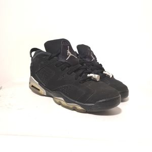 air Jordan 6 chrome black low sneakers